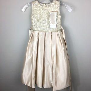 JOAN CALABRESE for MON CHERI Girls Dress Size 4